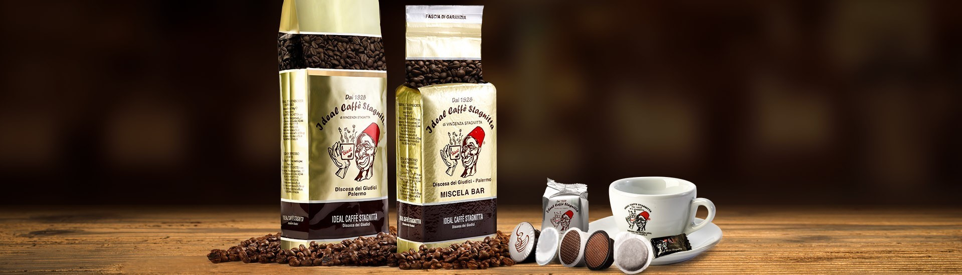 The Stagnitta Idealcaffè packages